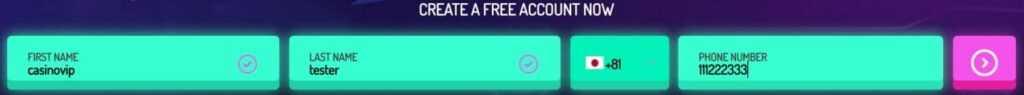neon vegas カジノ登録